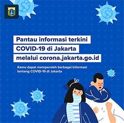 Pantau Informasi Covid-19 di Jakarta