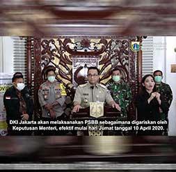 Pembatasan Sosial Beskala Besar di Jakarta