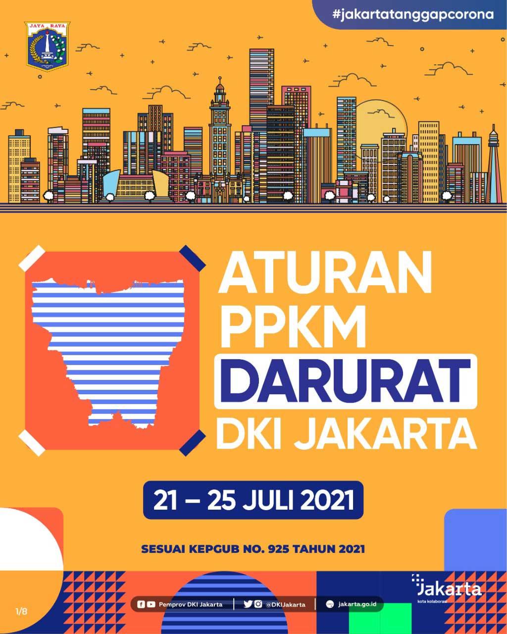 Aturan PPKM Darurat DKI Jakarta 21-25 Juli 2021 - Slide 1