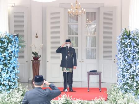 Pimpin Upacara Peringatan HUT ke-494 Kota Jakarta, Gubernur Anies Optimistis Jakarta Mampu Bangkit M