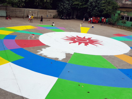 Pejagalan's Giant Asian Games Logo will Be Completed This Week