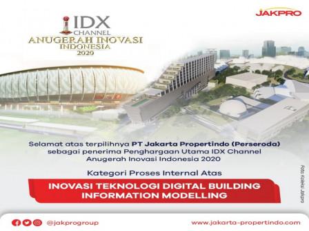 PT Jakpro Wins IDX Channel Indonesian's Innovation Award 2020