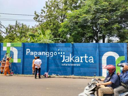 Sambut HUT Kota Jakarta, Jalan Bisma Utara Kelurahan Papanggo Dihiasi dengan Mural