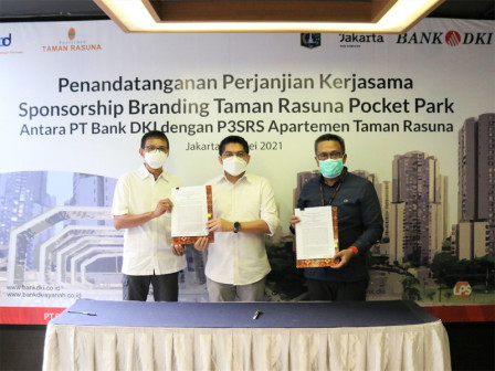 Bank DKI Rangkul Komunitas Apartemen Taman Rasuna Perluas Transaksi Nontunai