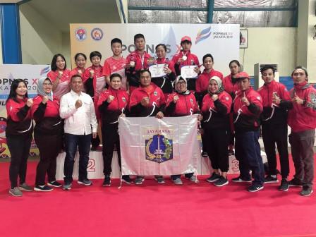 Tunggal Putra dan Putri Badminton POPNAS DKI Raih Medali Emas