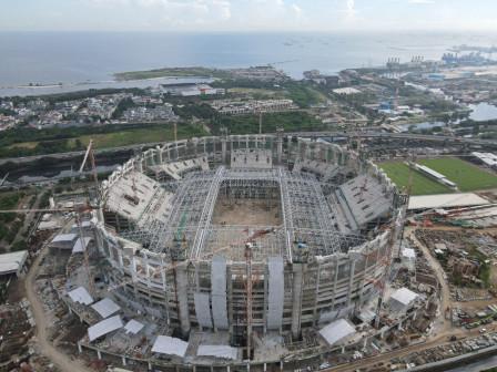 Pembangunan Stadion Kita Capai 68,95 Persen