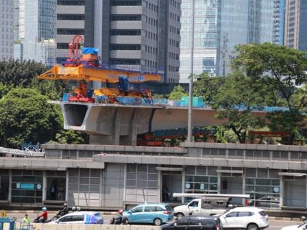 Pembangunan Simpang Susun Semanggi Masuk Tahap Finishing
