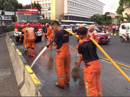 Kota Tua Area Cleaned to Welcome City's Anniversary
