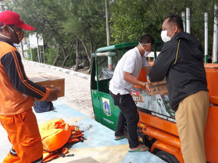 Logistics Distributed to Officers and Volunteers during Search for Sriwijaya Air