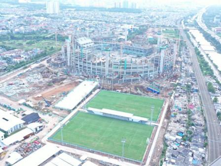 Dua Lapangan Latih di JIS Ditarget Bisa Digunakan Mulai Juni 2021