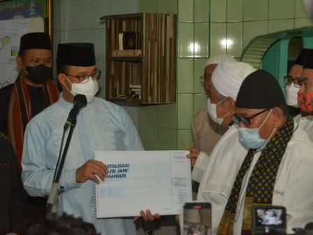 Revitalisasi Masjid Al Mansur, Gubernur Anies Berharap Tempat Ibadah Bersejarah di Jakarta Terawat