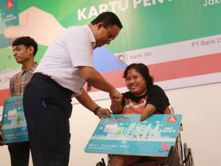 Anies Distributes Jakarta Disability Cards for Disabled People