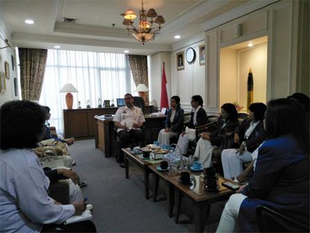 Bupati Menerima Audiensi Dengan Iwapi DKI Jakarta