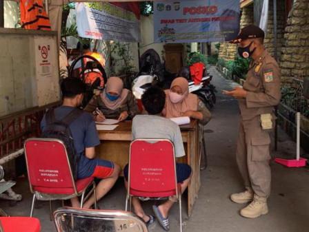 Satpol PP Kelurahan Sukapura Tindak 33 Pelanggar Operasi Tibmask