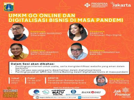 240 Jakprenuer Perempuan Ikut Webinar UMKM Go Online dan Digitalisasi Bisnis di Masa Pandemi
