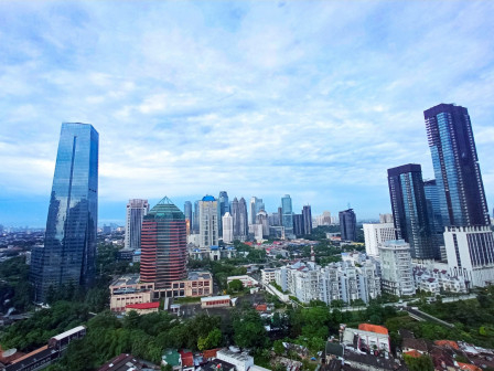 Cloudy in Most Regions of Jakarta Today