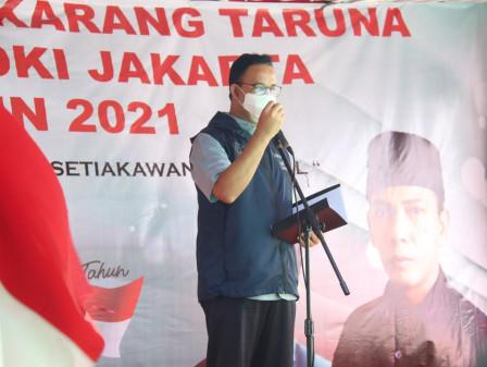 Hadiri Puncak Bulan Bhakti Karang Taruna, Gubernur Anies Berharap Karang Taruna Makin Bermanfaat