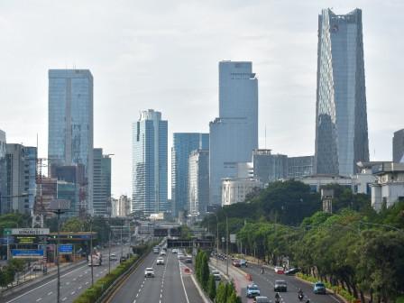Jakarta Cerah Berawan di Pagi Hari