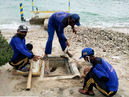 Channels and Infiltration Wells on Untung Jawa Island Cleaned