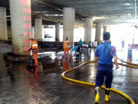 City Ensures Floods in Kemayoran Underpass Recedes in Relatively Short Time