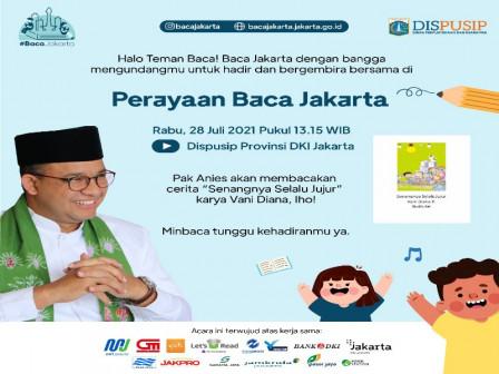 Perayaan Baca Jakarta, Gubernur Anies Nyatakan Minat Baca Tumbuh Pesat