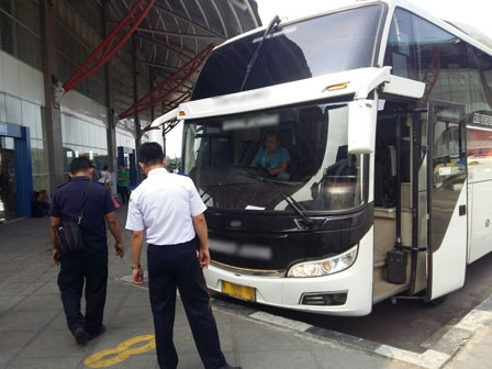 Dishub Holds Ramp Check for AKAP Buses in Four Terminals