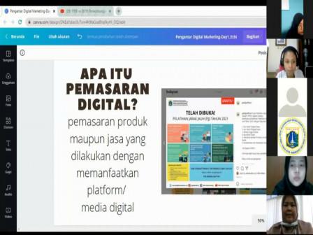 30 Peserta Ikuti Pelatihan Virtual Pembuatan Konten Promosi di Media Sosial