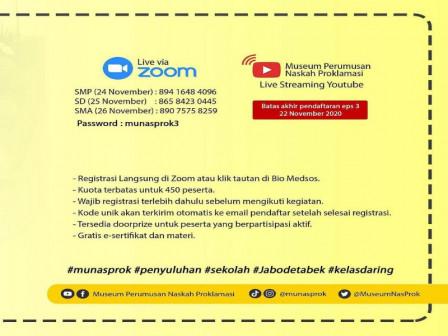 Disdik DKI Berkolaborasi Dengan Munasprok Selenggarakan Penyuluhan Sekolah Secara Online