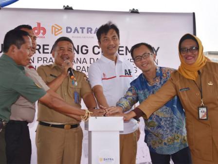 Seko Jaktim Pimpin Grounbreaking Pembangunan Jakarta International Climbing
