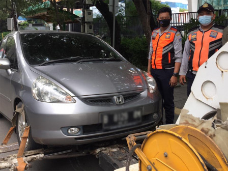 January-April, 879 Vehicles Towed in North Jakarta
