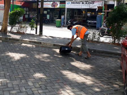 34 Warga Pelanggar Tibmask Ditindak di Depan Pasar Warakas
