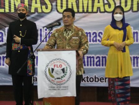 Wagub Ariza Berharap Ormas Mampu Tingkatkan Kolaborasi Untuk Jaga Stabilitas Ibu Kota.