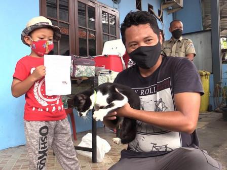 264 HPR di Tiga Pulau Permukiman Telah Divaksin Rabies