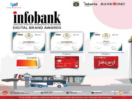 Enam Penghargaan Didapat Bank DKI di Infobank Digital Brand Awards 2021
