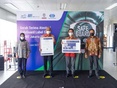 PT MRT Jakarta Raih SafeGuard Label