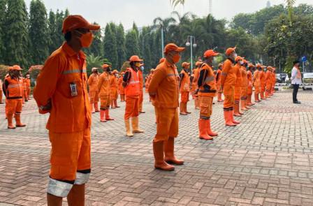 Apel Siaga Hadapi Musim Hujan di 44 Kecamatan, Pemprov DKI Optimalkan Peran PPSU
