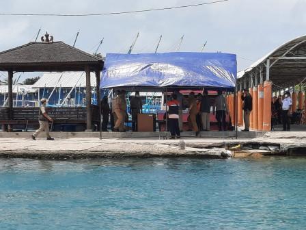 Pemkab Monitoring Kesiagaan Posko Covid-19 di Pulau Lancang dan Pulau Untung Jawa