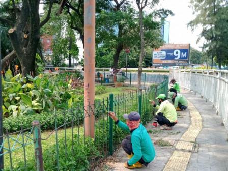 Revitalisasi Taman Loap Ramp Grogol Capai 75 Persen