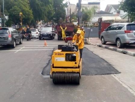 Januari-Desember, 6.549Titik Jalan Telah Diperbaiki Sudin Bina Marga Jaksel