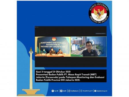 BUMD Terbaik Dalam Monev KI 2021 PT JIEP, PT Transjakarta, dan PT MRT Jakarta