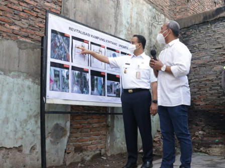 Anies Appreciates Collaboration of Various Parties in Revitalizing Kampung Kwitang
