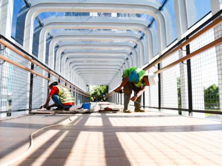 Two Pedestrian Bridges Revitalization in Sudirman Reaches 85 Percent