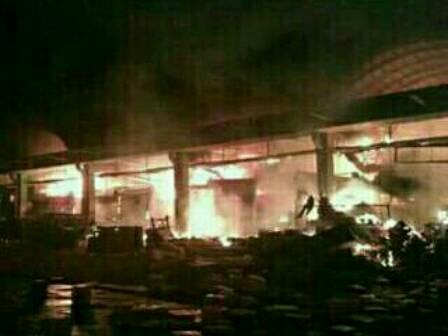 Fire Guts 90 Kiosks at Kramat Jati Market