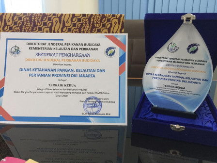 Dinas KPKP Terima Penghargaan Dari KKP RI