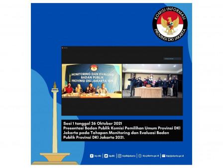 Pimpinan Tiga LNS Terbaik Hadiri Tahap Presentasi Monev KI DKI 2021