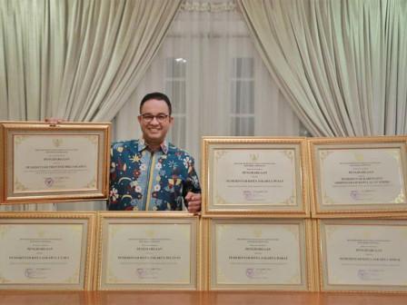Provinsi DKI dan Enam Wilayah Administrasi Raih Penghargaan Kota/Kabupaten Peduli HAM 2020
