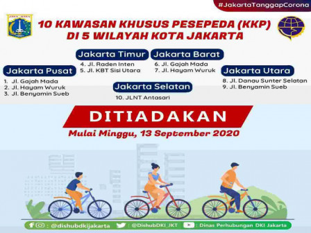 Terapkan PSBB, 10 Kawasan Khusus Pesepeda di 5 Wilayah Jakarta Ditiadakan