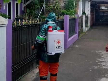 Batu Ampar Settlement Sprayed with Disinfectant