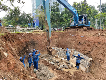 Embung Development Work on Jalan Letjen Suprapto Accelerated