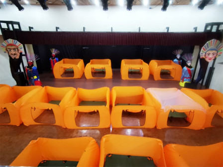 Self-Isolation Cubicles Equipped at Tanah Abang Art Building